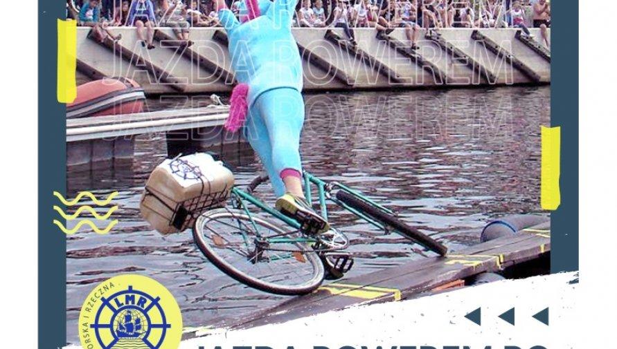 Jazda rowerem po desce na wodzie