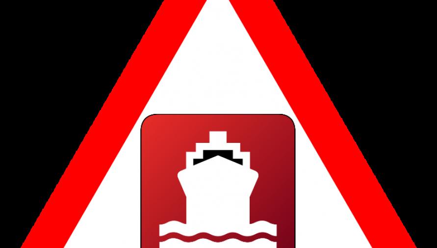 grafika na bazie clipartów openclipart.org - statek, ostrzeżenie - Kliknięcie w obrazek spowoduje wyświetlenie jego powiększenia